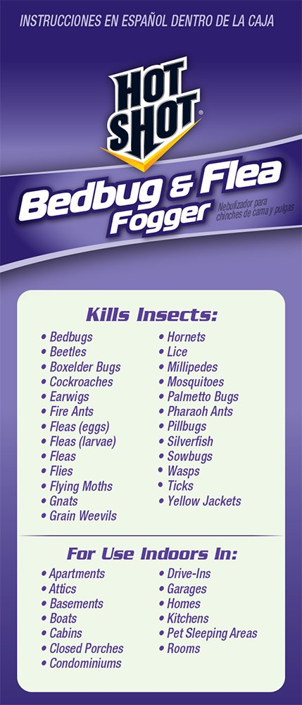 Amazoncom Hot Shot 95911 Bedbug and Flea Fogger Hot Shot Bed