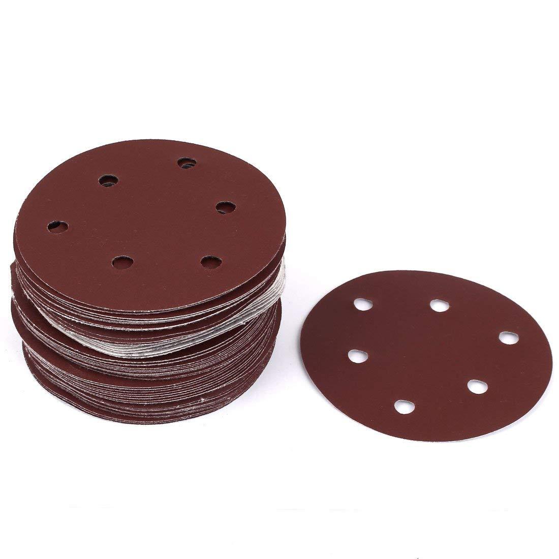 "Grinding Polishing Sanding Disc Sandpaper 120 Grit Rufous 4/"" Dia 10pcs"