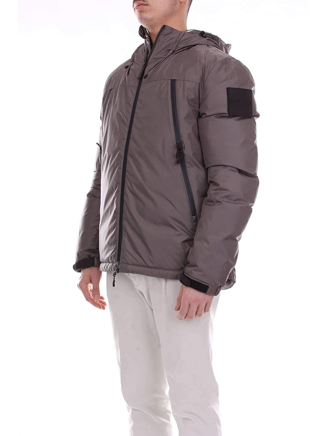 OUTHERE Mens 82M501DARKGREY Grey Polyester Down Jacket