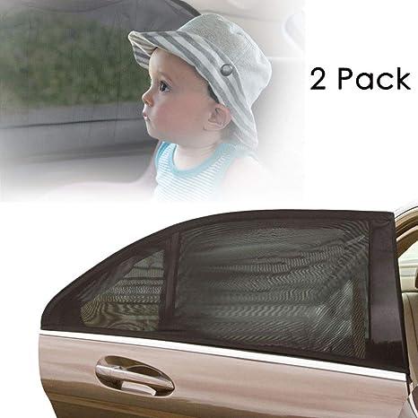 2 Pezzi per Massima Protezione dai Raggi UV AODOOR Tendine Parasole Auto 1 Set Tendina Parasole per finestrino Laterale dellauto