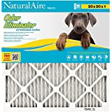 NaturalAire Odor Eliminator Air Filter with Activated Carbon, MERV 8, 20 x 20 x 1-Inch, 6-Pack