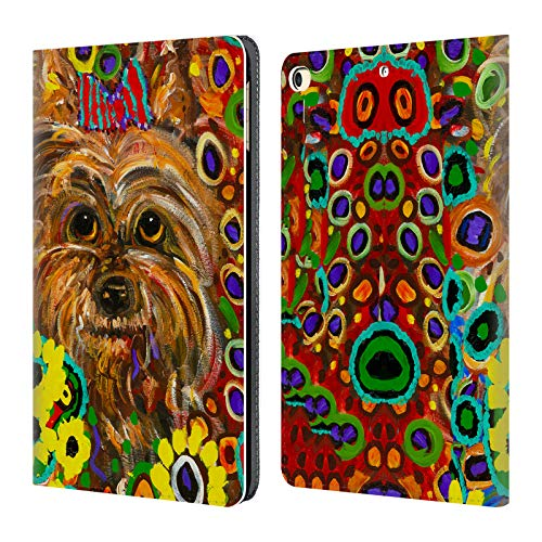 - Official Mad Dog Art Gallery Yorkie Dogs 2 Leather Book Wallet Case Cover for iPad 9.7 2017 / iPad 9.7 2018