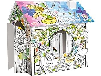 Coleprofe Casa De Hadas 3d Para Colorear