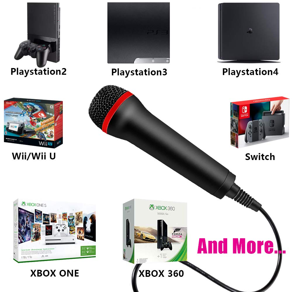 TPFOON 4M 13FT Wired USB Microphone for Rock Band, Guitar