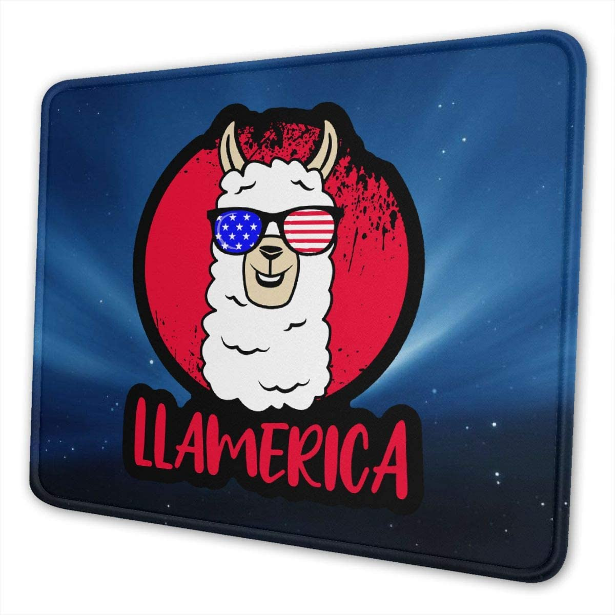 USA Memorial Day4 Gaming Mouse Pads Non-Slip Rubber Base Square Mat for Desktops Computer Laptops
