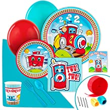 2nd Birthday Train Party Supplies - Value Party Pack