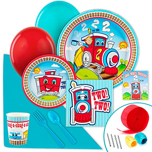 [2nd Birthday Train Party Supplies - Value Party Pack] (Chuggington Party Supplies)