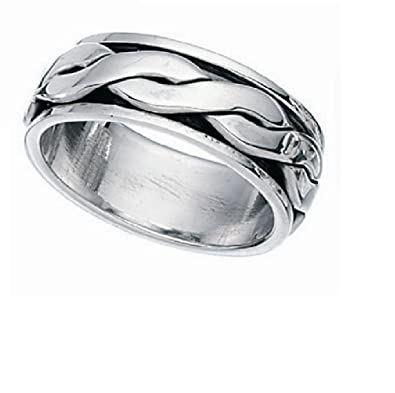 SPINNER REVOLVING SILVER RING UNISEX You choose size N up to Z2 1up31