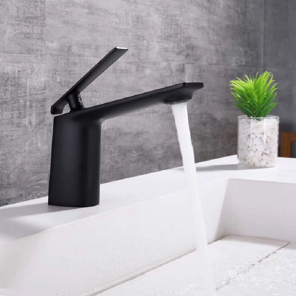 Wasserhahn bad Waschtischarmatur  Schwarz - Becken Wasserhahn Heißes Und Kaltes Mode Wasserhahn