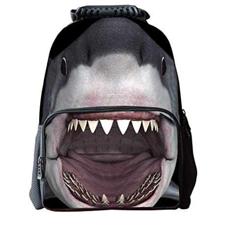 DaoRier Animal Tiburón Mochilas Escolares Bolsas Escolares Niños Niñas Size 42x29x18cm