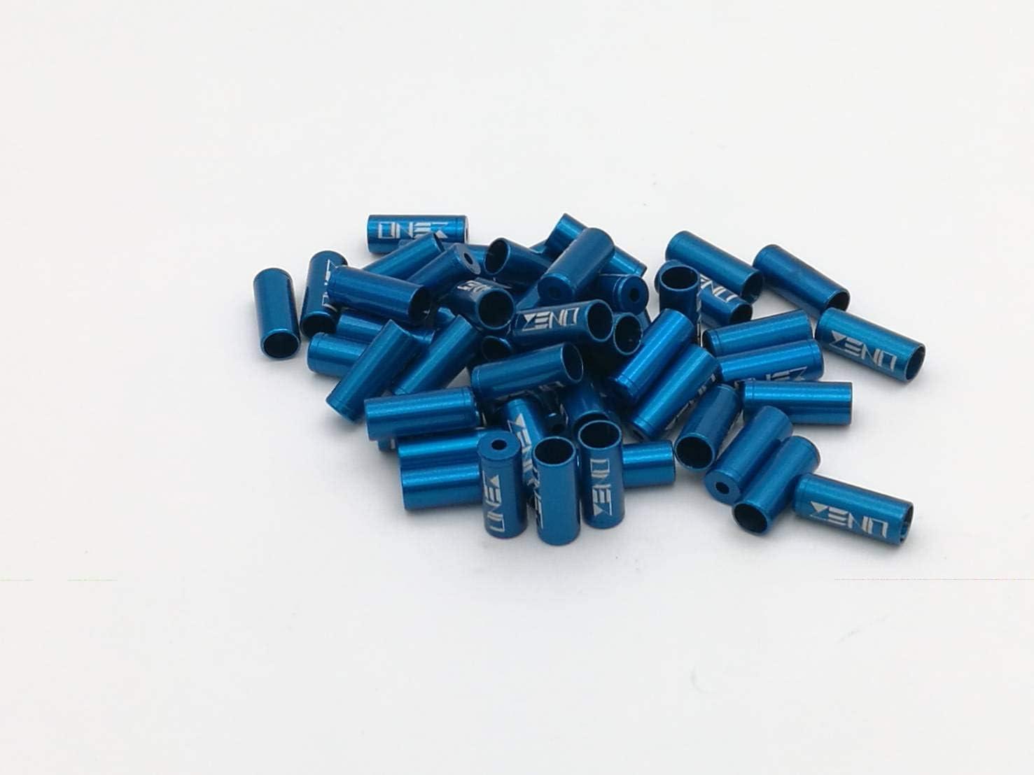 10 PCS BIKE BICYCLE ALUMINUM BRAKE HOUSING FERRULES CAPS 5mm NEW BLUE