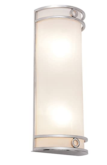 Trans Globe Lighting MDN 1030 PC 16 Inch Cylinder Wall Sconce