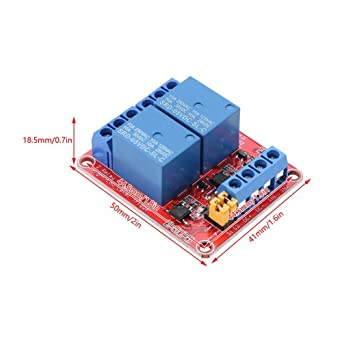 5V 2 Channel Relay Module with Optocoupler Isolation High and Low Level Trigger