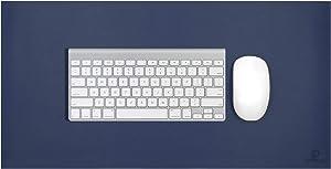 "OFFIDIX Office Desk Mat,Desktop PU Leather Desk Pad Non-Slip Leather Protective Desk Matt Laptop Mat Gaming Writing Mat for Laptop PC Keyboard (Dark Blue, 24""x12"")"