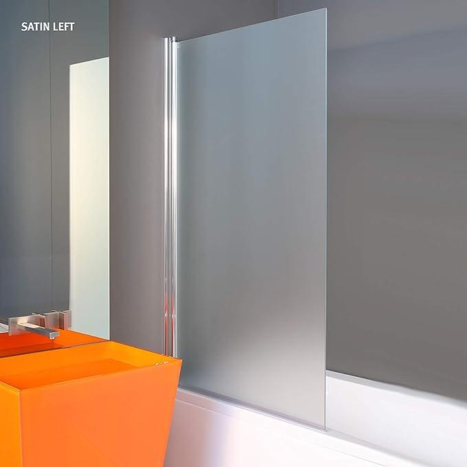 1400 x 800 mm Vidrio SATINADO Partición de Ducha Para el Baño Partición de Baño sin Marco Partición para Pañera Partición de Vidrio para Bañera: Amazon.es: Bricolaje y herramientas