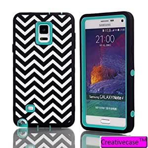 Note 4,Galaxy Note 4 Case,Creativecase Samsung Note 4 Case,Samsung Galaxy Note 4 Case and beautiful Wave pattern 3in1 hybrid Soft Silicon and Hard PC Note 4 Case Cover for Samsung Galaxy Note 4 Case Cover NN#N1