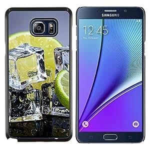 """Be-Star Único Patrón Plástico Duro Fundas Cover Cubre Hard Case Cover Para Samsung Galaxy Note5 / N920 ( Cubos de hielo Lima Limón Citrus sana Fruta"""" )"""