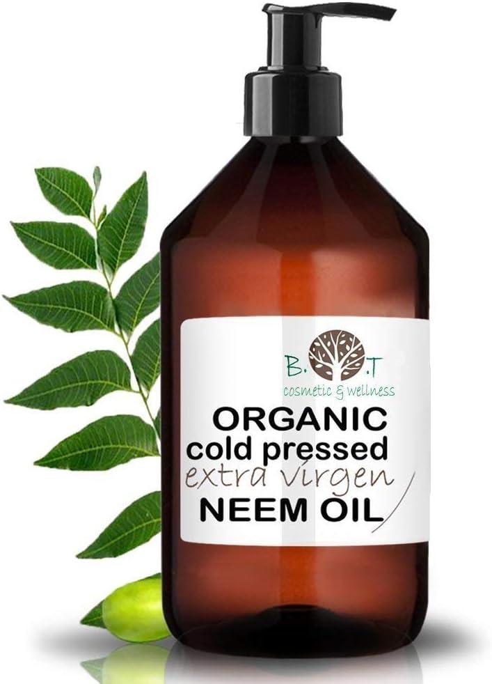 Aceite de Neem Virgen Prensado en Frío Primera Presión 100% Puro BIO Aceite vegetal Non refinado (1000 ml) Azadirachtin 3123.32 ppm.