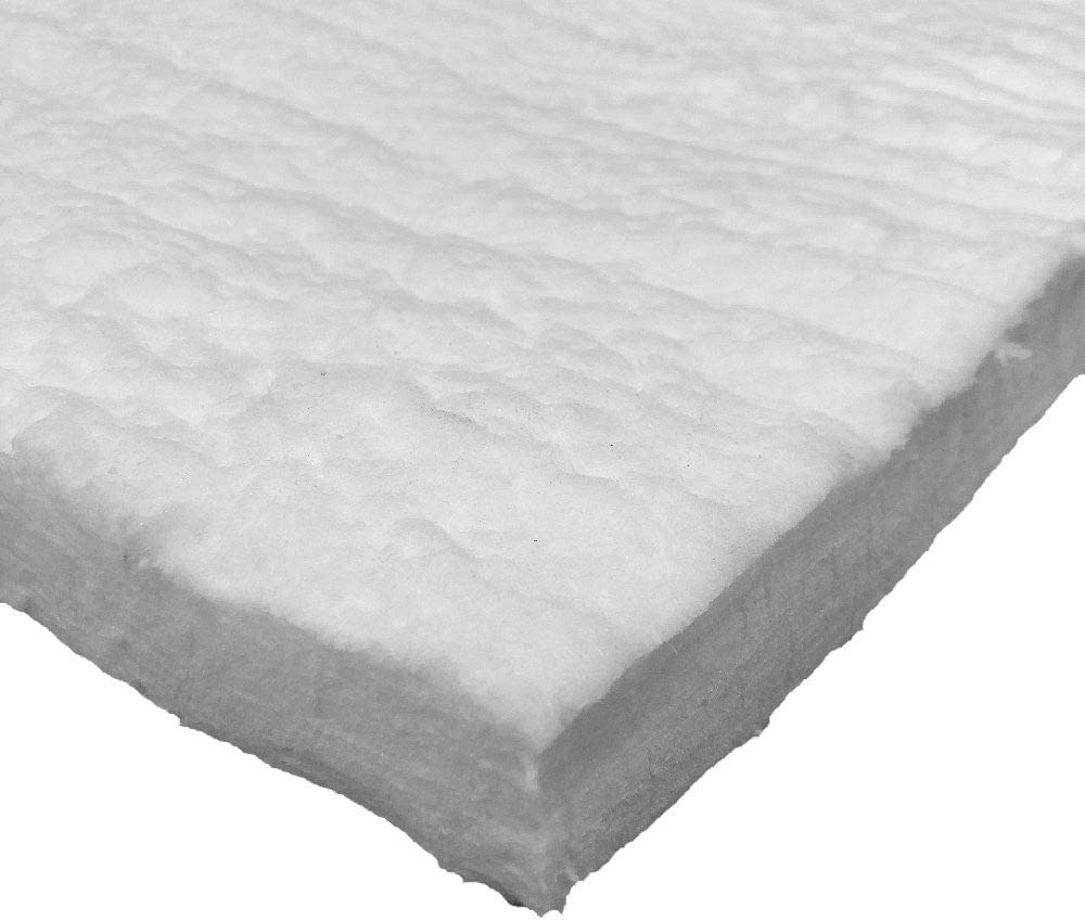 PUR Schamotte Keramikfasermatte 50mm I 500 x 610 x 50 mm I 1.260 /°C I Keramikfaser Isolierung f/ür Holzback/öfen
