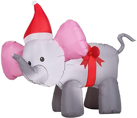 Amazon.com: recortar un hogar 4 airblown elefante con lazo ...