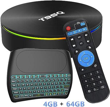T95Q TV Box Android 8.1 Quad core 4+32//64GB 3D Video Bluetooth 4.1 Media Player