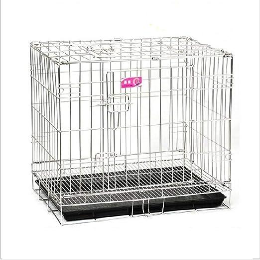 D&D Jaula para Perros Doble Puerta Plegable Confort Acero ...