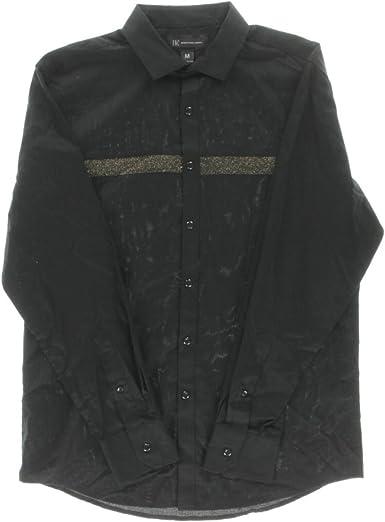 INC International Concepts Mens Shine-Trim Long-Sleeve Shirt