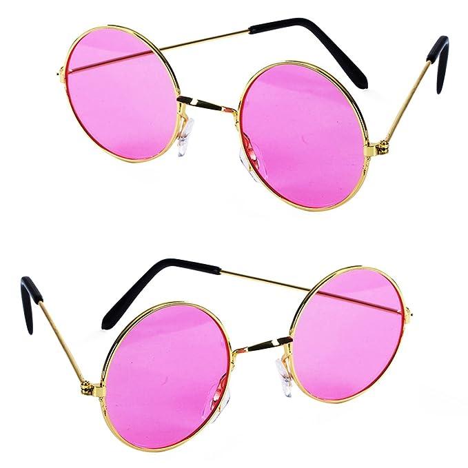Amazon.com: Hippie anteojos – Gafas de sol de John Lennon ...
