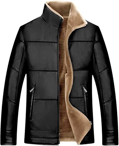 ZPFMM Mens Elegant Cotton Parka Winter Coat Casual Long Jackets