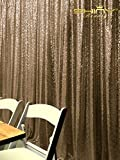 ShinyBeauty 20FTx10FT-Chocolate-Sequin Backdrop, For Party or Wedding Sequin Photo Booth Backdrop,Wedding Backdrop, Photo Backdrop,Glitz Backdrop,Sequin Curtains