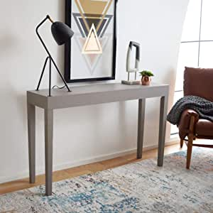 Safavieh Home Collection Mid Century Scandinavian Kayson Grey Console Table Furniture Decor Amazon Com