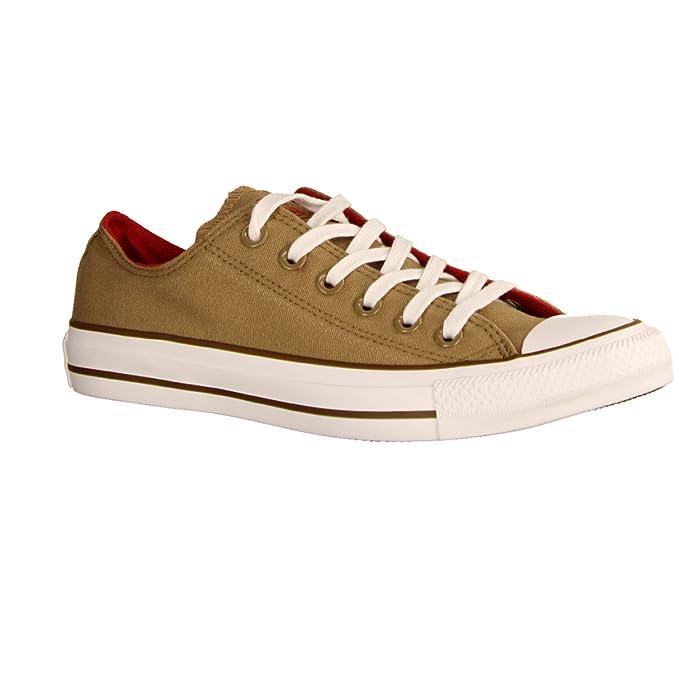 d32e16fa5455 Converse Chucks 162454C Beige Chuck Taylor All Star OX Teak Cherry Red  Chestnut Brown  Amazon.co.uk  Shoes   Bags