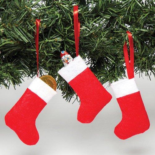 Baker Ross confezione da 8 Calze natalizie in feltro