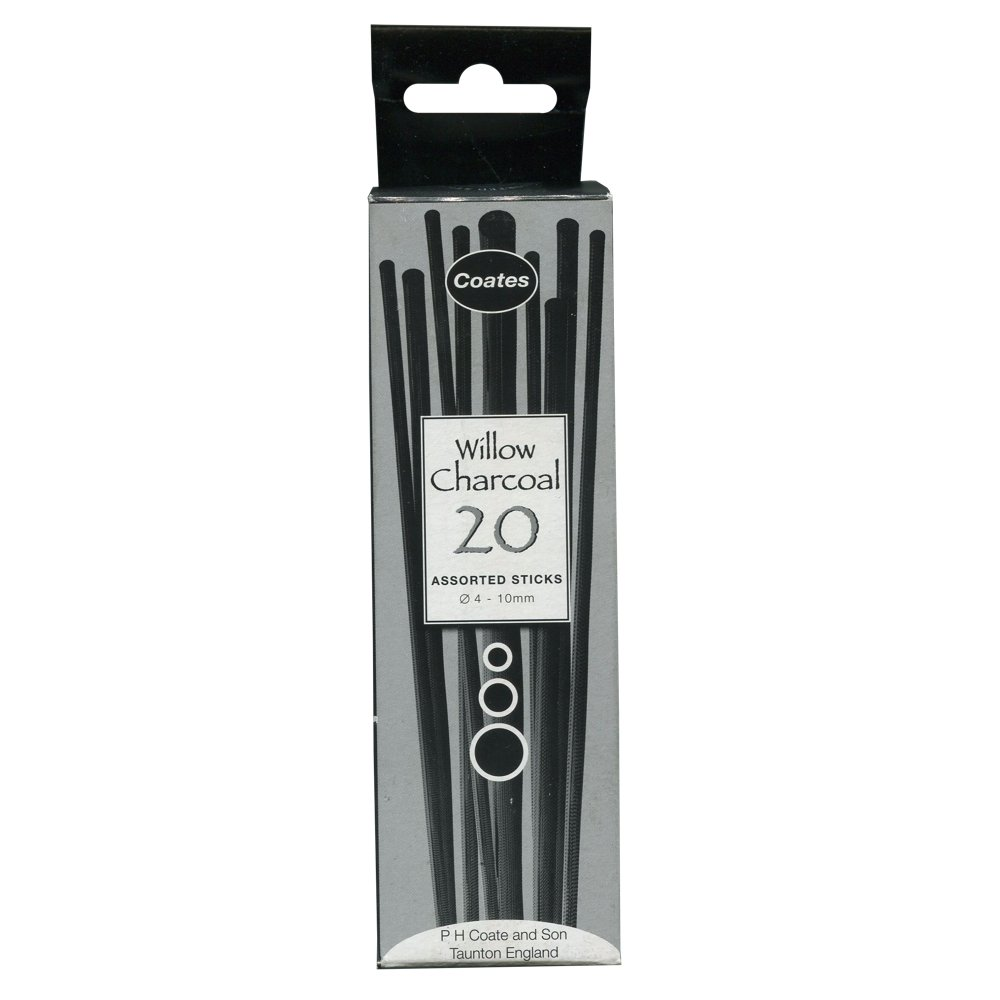 Coates 20 Assorted 4 to 10Mm Willow Charcoal