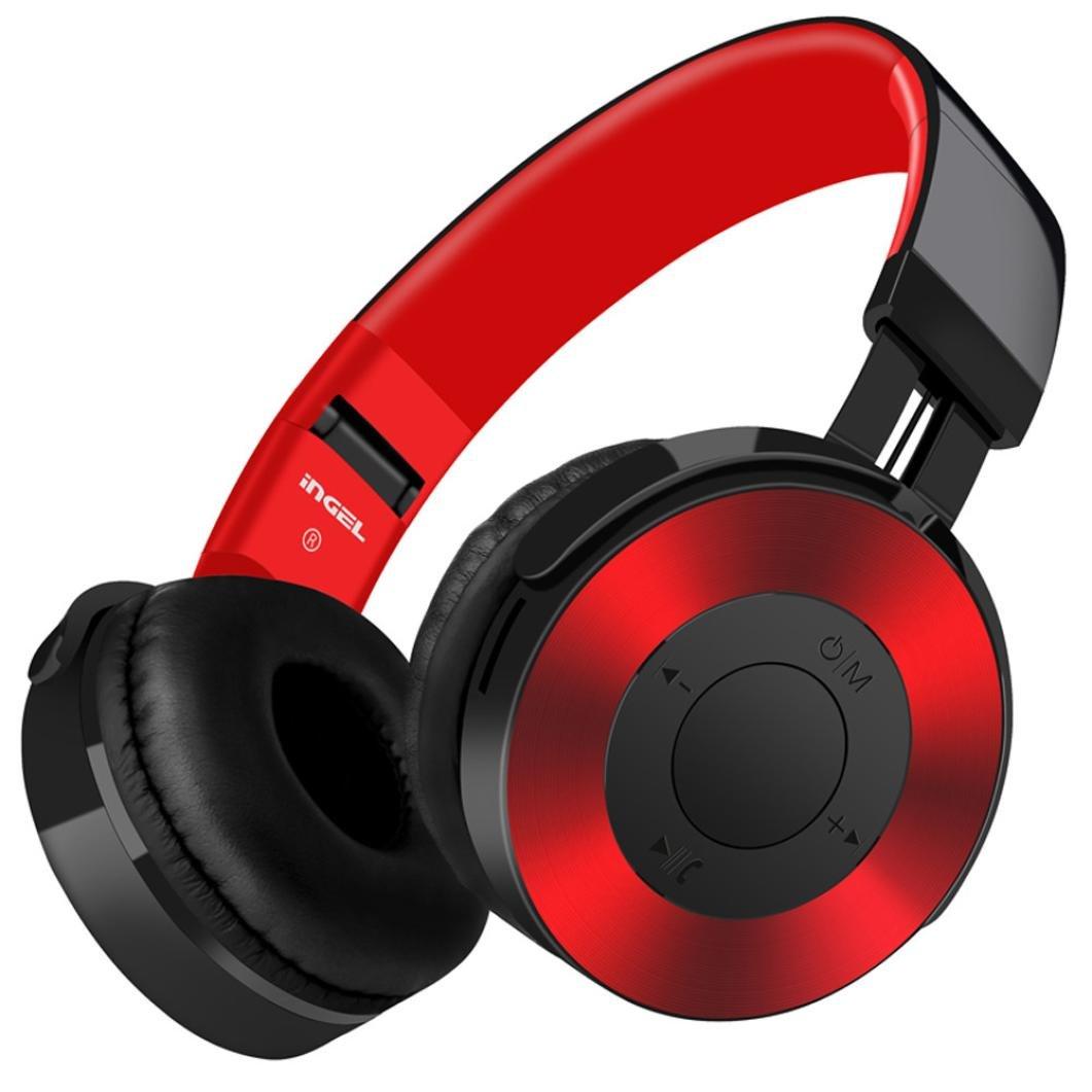 YJYdada Bluetooth Headphones Over Ear Hi-Fi Stereo Wireless Headset with Mic TF Card FM