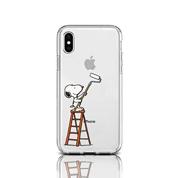 finest selection d6a51 010e1 Case for Apple iPhone Protective Case Snoopy Charlie Brown Stripes Clear  Transparent Silicone Flexible Design Art Cover iPhone (Paint It Snoopy, ...