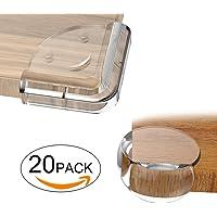 E-PROUSE Protection Coin de Table bébé Protecteurs D'angles 20pcs protecteurs de coin transparent Protecteur de Meubles avec ruban adhésif avancé