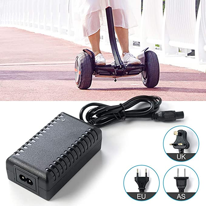 TDORA 42V 2A Power AC Adapter,Car Electric Balance Scooter Universal Charger for Xiaomi//Segway//Swegway//Hoverboard UK Power Adapter