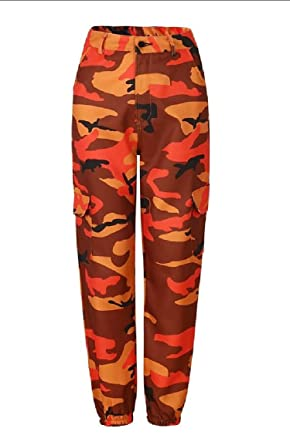 eb447d2202903 M&S&W Women's Camouflaged Camo Cargo Trousers Pants Military Army Casual  Pants with Multi-Pockets at Amazon Women's Clothing store: