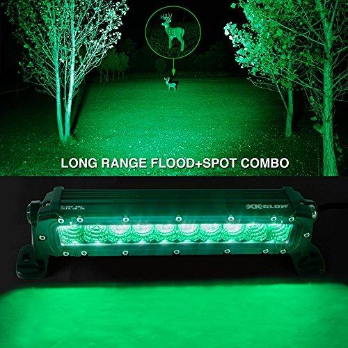 Green 10 Inch Hunting Amp Fishing Led Light Bar Spot Flood