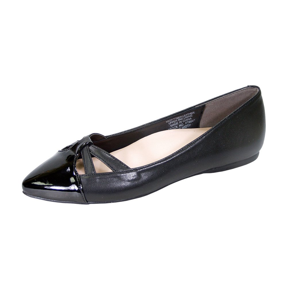 Peerage Sidney Women Wide Width Pointed Toe Casual Dress Step in Flats (Size/Measurement Chart Available) B07BK75SPZ 11 D|Black