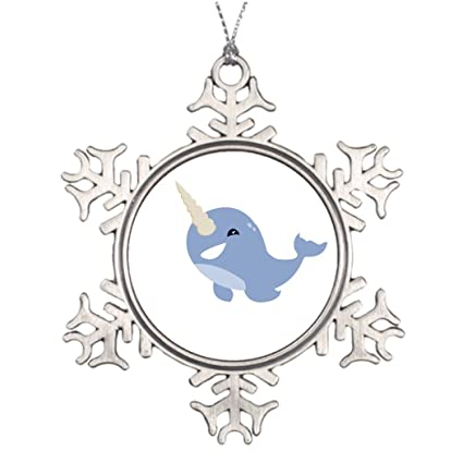 eryoubs personalised christmas tree decoration narwhal outdoor christmas decor - Narwhal Christmas Decoration