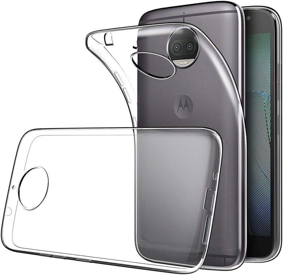 REY Funda Carcasa Gel Transparente para Motorola Moto G5S Plus ...
