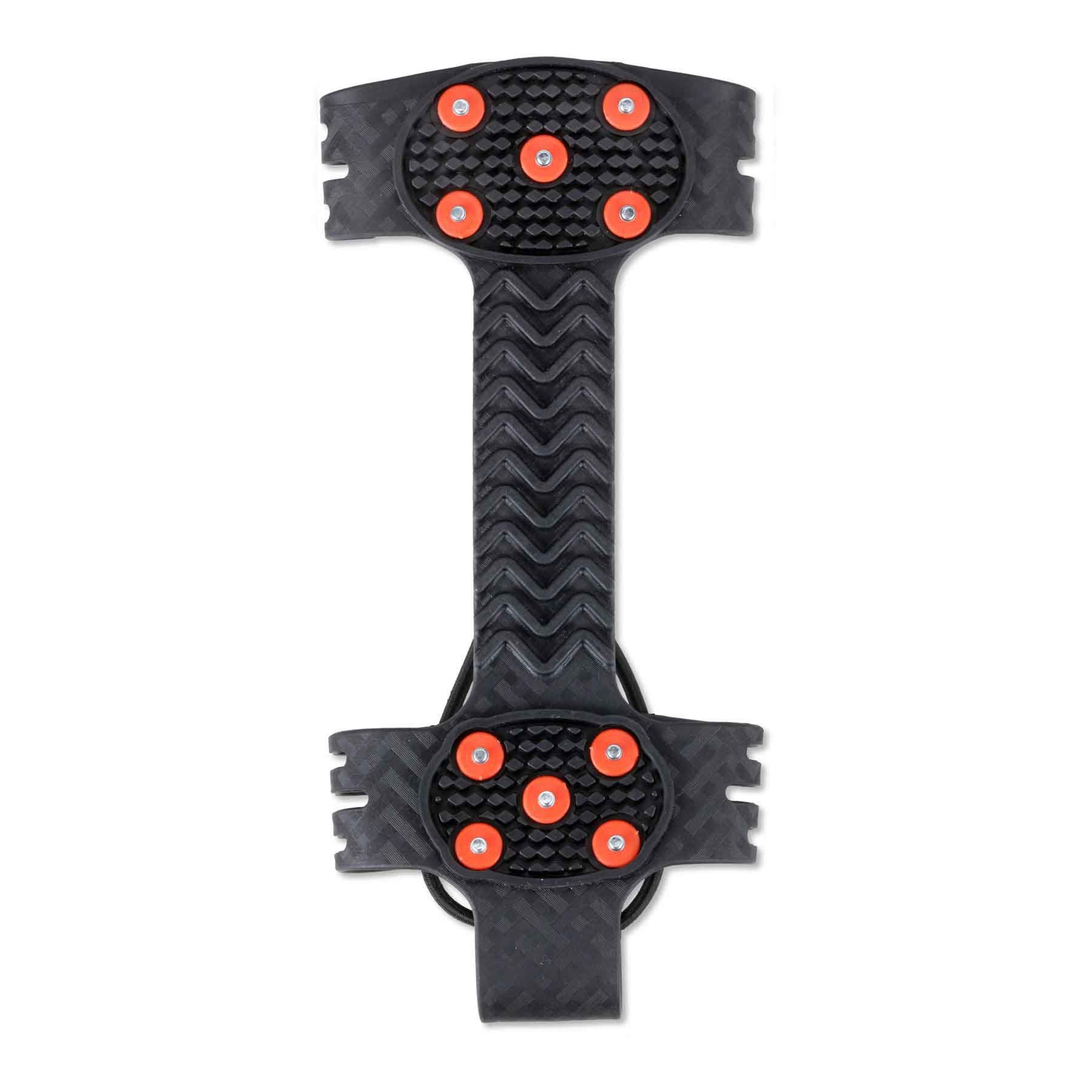 Ergodyne TREX 6310 Adjustable Traction Cleat Grips Ice and Snow, One-Piece Easily Attaches Over Shoe/Boot with Carbon Steel Spikes to Provide Anti-Slip Solution, Large