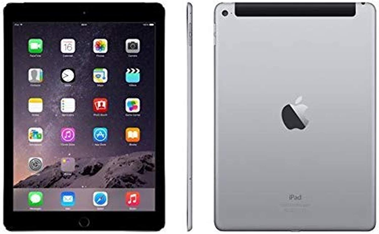 Apple Ipad Air 2 64GB Factory Unlocked (Space Gray, Wi-Fi + Cellular 4G) Newest Version (Renewed)
