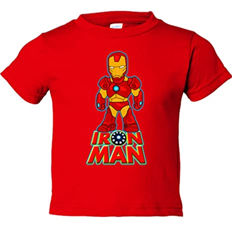 Camiseta niño Iron Man traje - Rojo, 3-4 años: Amazon.es: Bebé