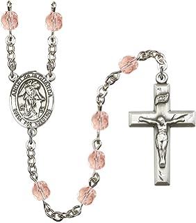19 Inch December Birth Month Prayer Bead Rosary with Patron Saint Centerpiece