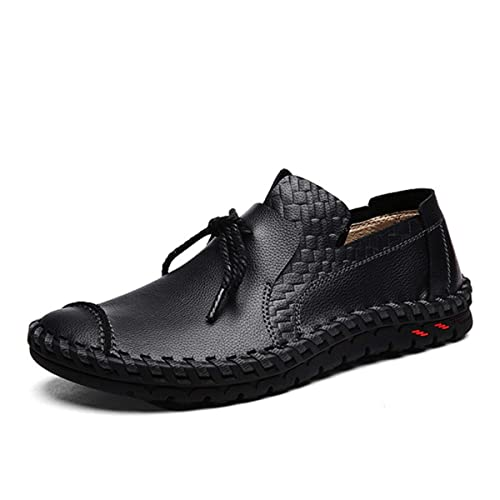 Gracosy Mocasines Hombre Primavera/Otoño Confort Zapatos de Cuero Mocasines Transpirables resbalón Transpirables Zapatos de Conducción Ocasionales ...