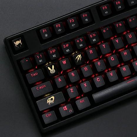 7b813fe69e5 Amazon.com: All Decor Overwatch Theme Keycaps Hand-Engraved Resin ...