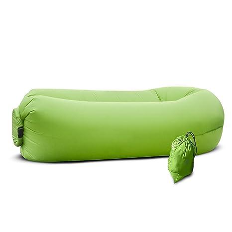 UOKOO Tumbona hinchable, tumbona de aire con bolsa de viaje ...